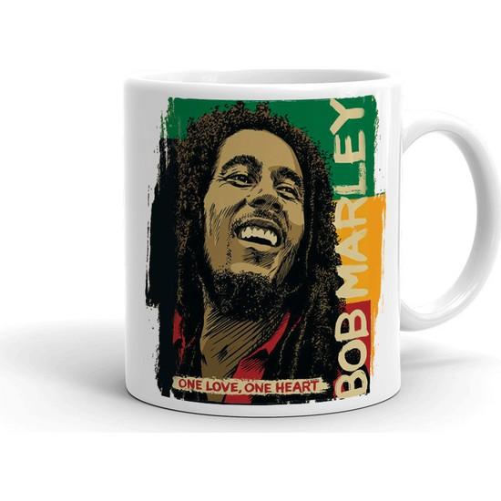 2k Dizayn Bob Marley Tasarım Seramik Kupa Bardak