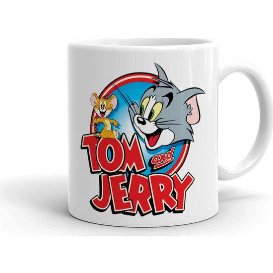 2k Dizayn Tom ve Jerry Tasarım Seramik Kupa Bardak