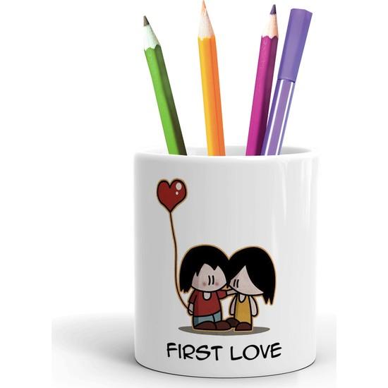 2K Dizayn First Love Tasarım Seramik Kalemlik