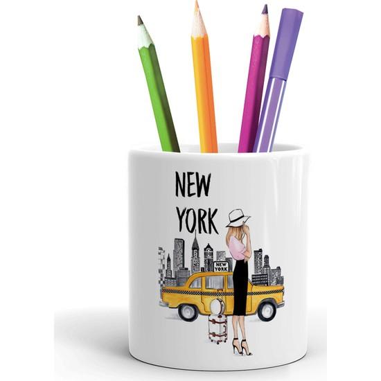 2K Dizayn New York Tasarım Seramik Kalemlik