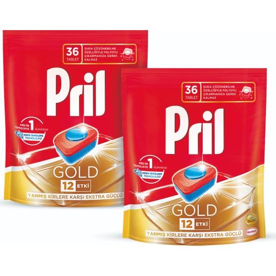 Pril Gold Bulaşık Makinesi Deterjanı 36 Tablet 2'li