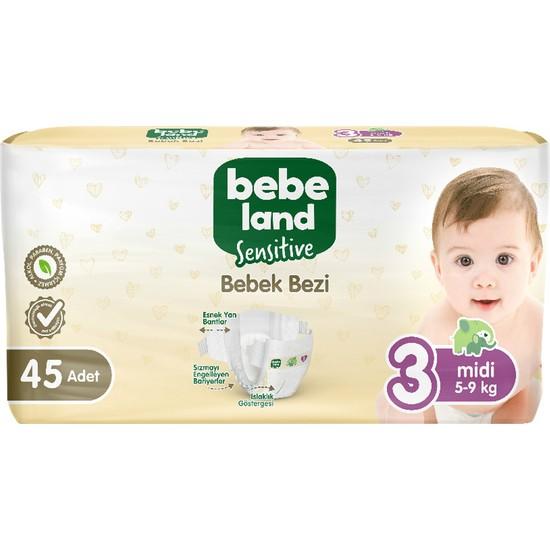 Bebeland Sensitive Bebek Bezi 3 Numara 45 Adet