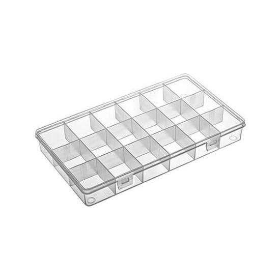 Hipaş Plastik - 18 Bölmeli Kapaklı Organizer Kutu - 606