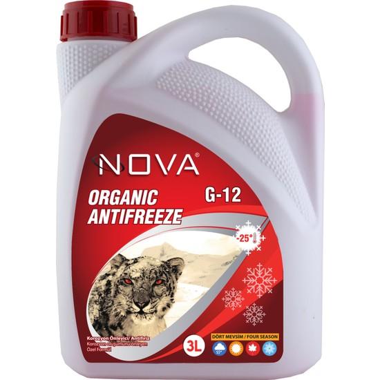 Nova -25 Derece Organik Kırmızı Antifriz 3 Lt