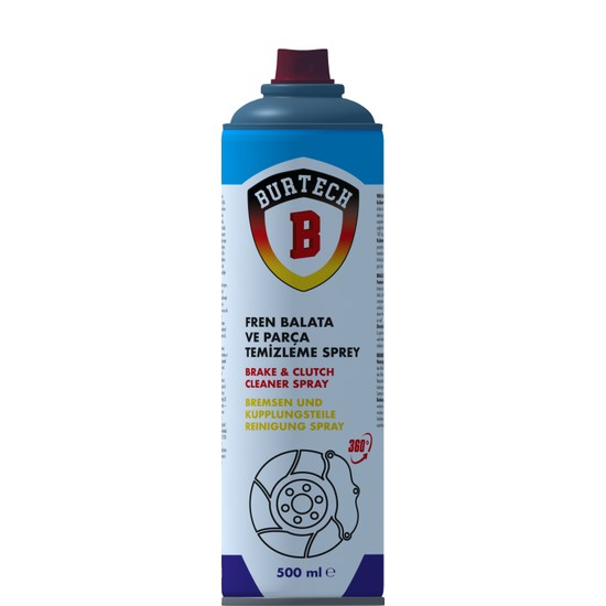 Burtech Fren Balata ve Parça Temizleyici Sprey 500 ml