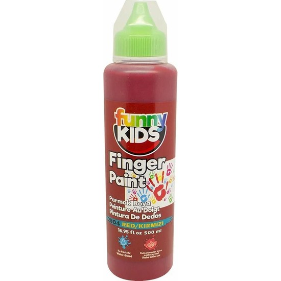 Funny Kids Parmak Boyası 500 ml - 2804 Kırmızı
