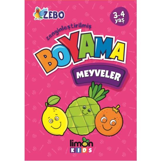 Limon Kids 3-4 Yaş Zenginleştirilmiş Boyama - Meyveler