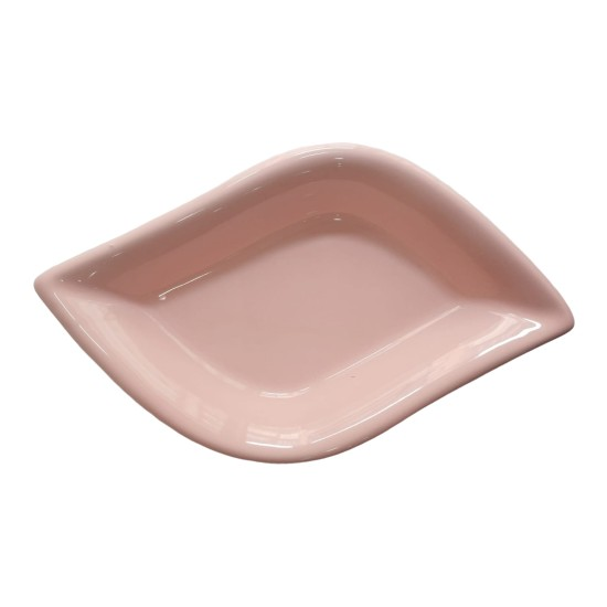 Keramika 1 Adet 19 cm Pembe Yaprak Model Seramik Çerezlik