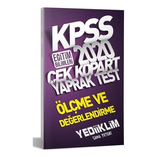Yediiklim Yayınları 2020 KPSS Eğitim Bilimleri Ölçme Ve Değerlendirme Çek Kopart Yaprak Test