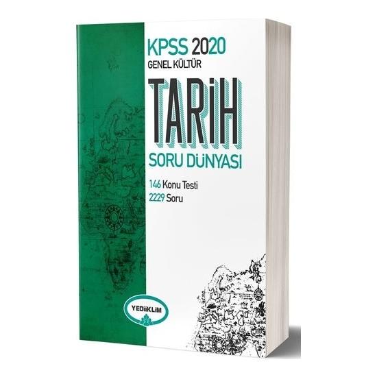 Yediiklim Yayınları 2020 KPSS Genel Kültür Tarih Soru Dünyası