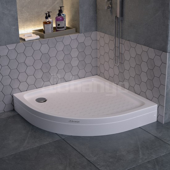 Dbbanyo Oval Duş Teknesi Panelli 90*90*15 cm