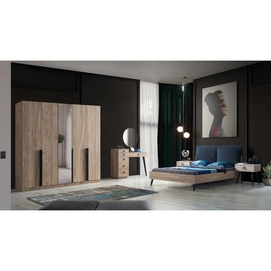 Feyza Mobilya Premium 5 Kapılı Yatak Odası
