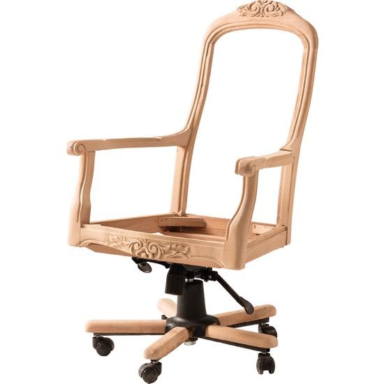 Obuts Home 614 Ingiliz Dönerli Sandalye Cilasız Ahşap Ham