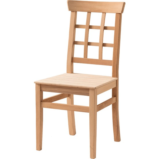 Obuts Home 687 Petek Sandalye Cilasız Ahşap Ham