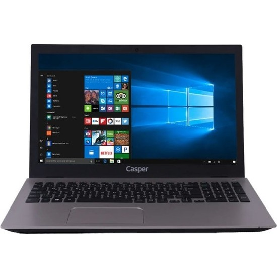 "Casper Nirvana F750.8550-B565P-G-IF Intel Core i7 8550U 16GB 1TB + 240GB SSD MX150 Windows 10 Home 15.6"" FHD Taşınabilir Bilgisayar"
