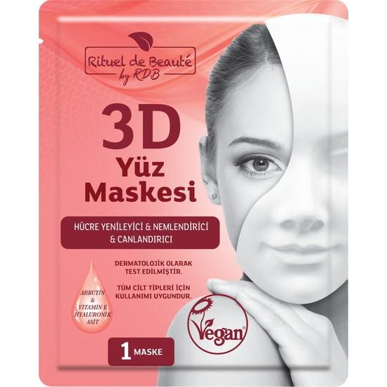 Rituel De Beaute Hücre 3D Yenileyici ve Canlandırıcı Yüz Maske