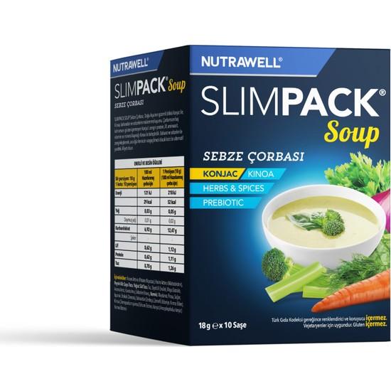 Nutrawell Slimpack Soup Sebze Çorbası 18 G x 10 Saşe