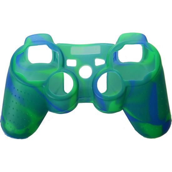 Dobe Sony PS3 Joystick Dualshock 3 Silikon Kılıf Kamuflaj Mavi Yeşil