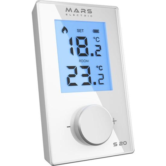 Mars S20 Kablosuz Dijital Oda Termostatı Beyaz