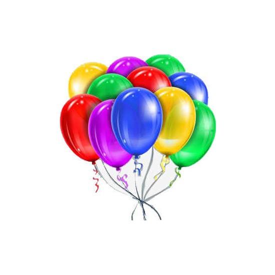 Kidspartim Karişik Metalik Renkli Düz Balon 12 Inc