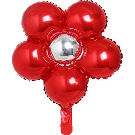 Kidspartim Çiçek Modelli Folyo Balon Kirmizi 18 inç 40 cm