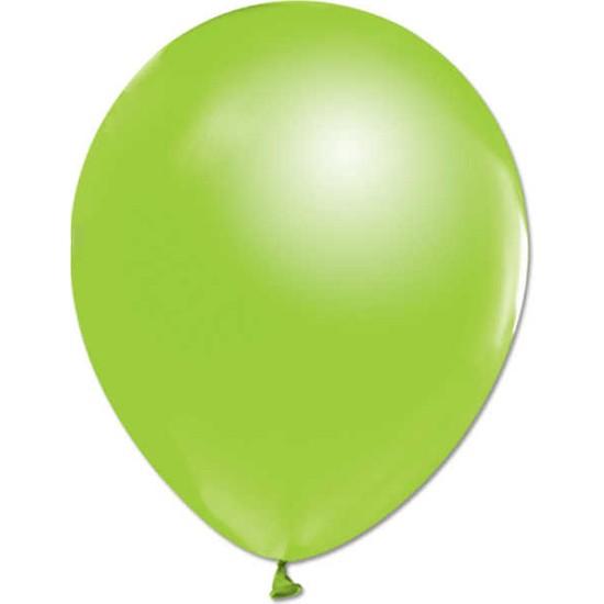 Kidspartim Metalik Açik Yeşil Balon 12 inç