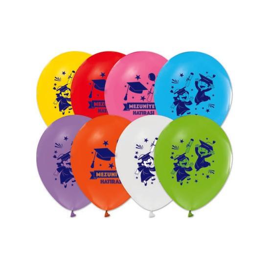 Kidspartim Mezuniyet Baskili Lateks Balon ( çocuklar için)