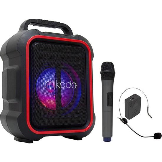 Mikado MD-116BT 15W 2 Adet Kablosuz El+Baş-Ense Mikrofonlu Usb/sd Bluetoothlu Toplantı Anfisi