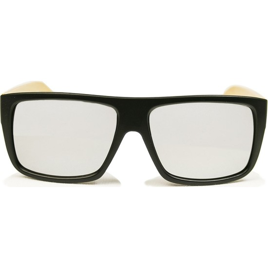 FashionMoon GGZFMW0008 Bambu Saplı Siyah Dikdörtgen Çerçeve Gri Aynalı Erkek Güneş Gözlüğü