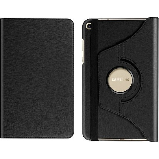 "A Shopping Samsung Galaxy Tab A 8.0"" T290/295/297 360 Derece Döner Tablet Kılıf - Siyah"