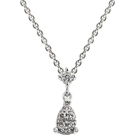 Clavis Jewelry Damla Pırlanta Kolye 8 Ayar