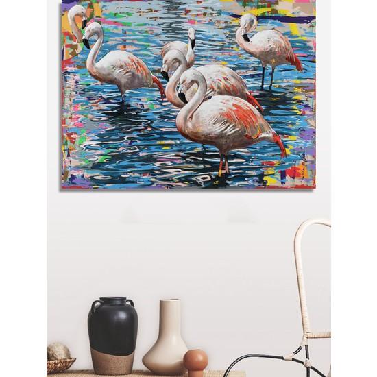 Decoizm Flamingo Kanvas Tablo