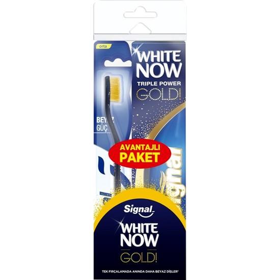 Signal White Now Gold Diş Macunu 75 ml + Beyaz Güç Orta Diş Fırçası
