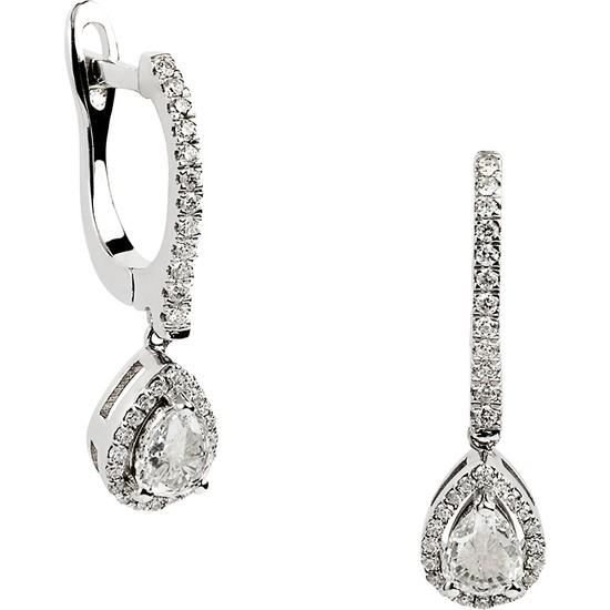 Clavis Jewelry Damla Elmaslı Pırlanta Küpe (CKP0847)