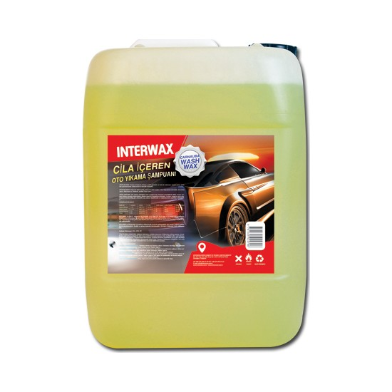 Interwax Cilalı Oto Yıkama Şampuanı 25 kg