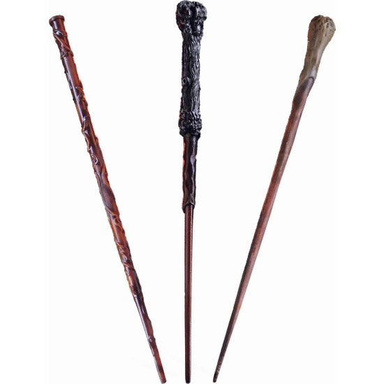 Büyücü Sokağı Golden Trio Asa Seti - Harry Potter - Altın Üçlü