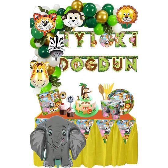 Balonevi Safari Doğum Günü Seti