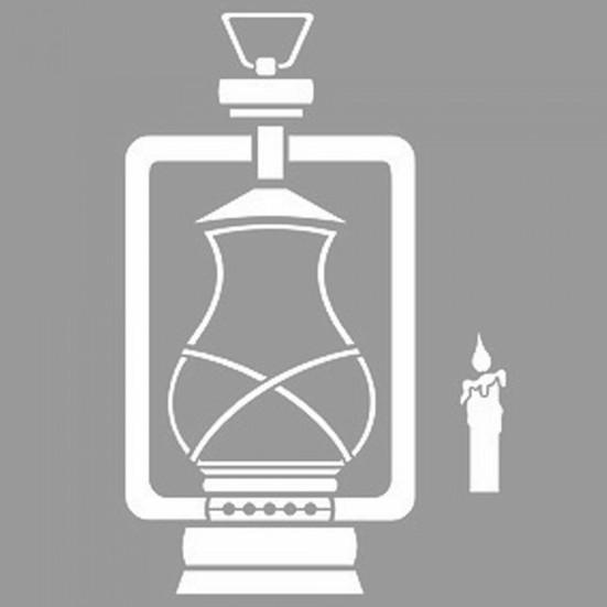 Artikel Zincirli Gaz Lambasi Stencil Tasarimi 30 X 30 Cm Fiyati