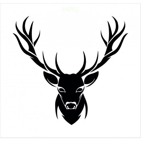Artikel Geyik Kafasi Stencil Tasarimi 30 X 30 Cm Fiyati