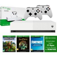 Microsoft Xbox One S 1 TB All-Digital Edition 4K Ultra HD Oyun Konsolu + 3 Ön Yüklü Oyun + 2 Kol + 1 Yıllık EA Access