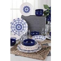 Keramika İknat Kobalt Yemek Takımı 6 Kişilik 24 Parça 17932-33-34