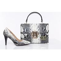 Miss Lamiss Kadın Ayakkabı Çanta Takım