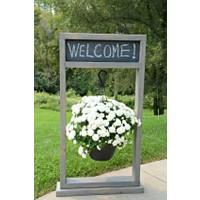 Ahşapevim Çok Amaçlı Dekoratif Ahşap Raflı Çiçek Saksı Rafı Standı Karşılama Panosu