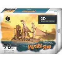 Pershang Korsan Gemisi 76 Parça 3D Ahşap Puzzle