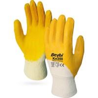 Beybi KN350 12 Çift Sarı Nitril İş Eldiveni