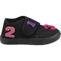 Sanbe 106P104 Okul Kreş Kız/erkek Çocuk Keten Panduf Ayakkabı Siyah