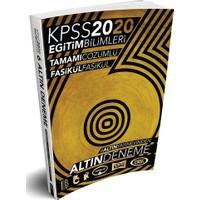 Benim Hocam 2020 KPSS Eğitim Bilimleri 6 ALTIN Çözümlü Fasikül Deneme