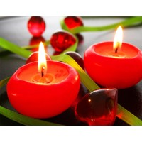 Duvar Tasarım DLC 1060 Candle Led Canvas Tablo - 70x50 cm