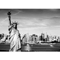 Duvar Tasarım DC 2021 Black&White Led Kanvas Tablo - 70x50 cm