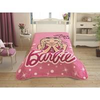 Taç Tek Kişilik Lisanslı Battaniye - Barbie